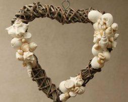Hanging Heart - White