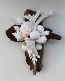 Dark Driftwood Cross