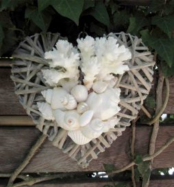 Natural/Grey Filled Heart Wreath