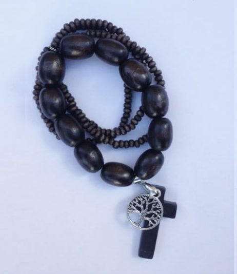 Brown Timber Bracelet- Tree of Life Charm