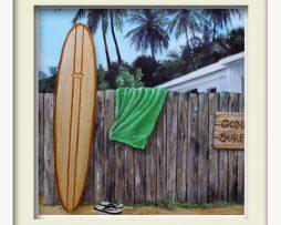 Gone Surfing (white frame)