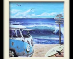 Kombie Surfs Up (black frame)