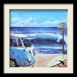 Kombie Surfs Up (black frame)