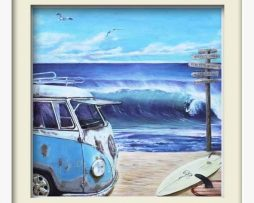 Kombie Surfs Up (white frame)