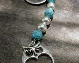 Owl Keyring - Turquoise