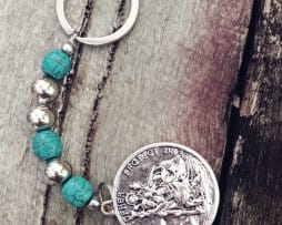 St. Christopher Keyring -Turquoise