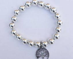 Silver Bracelet - 'Tree of Life' Charm
