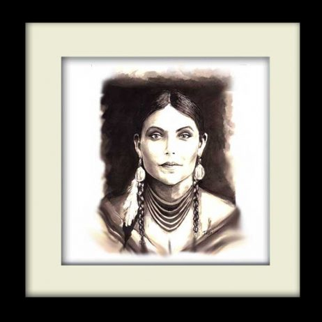 Unknown Indian Girl - Black Frame
