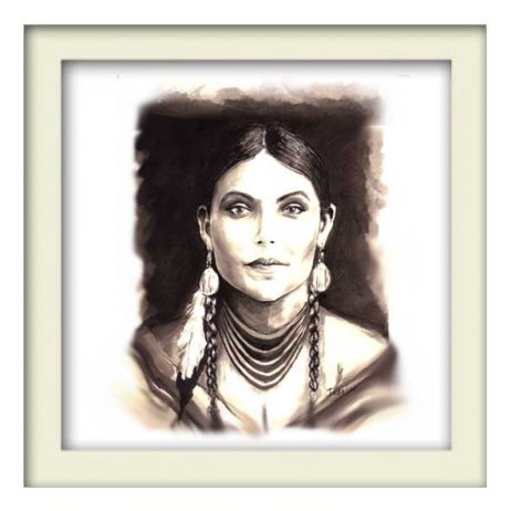 Unknown Indian Girl - White Frame
