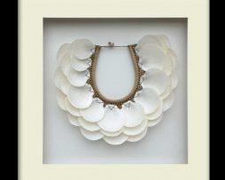 Tribal Shell Necklace – Black Framed