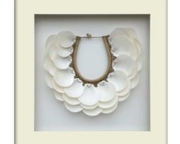 Tribal Shell Necklace – White Framed