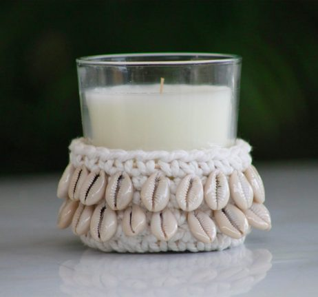 Crocheted Candle Holder - Cowie Shell