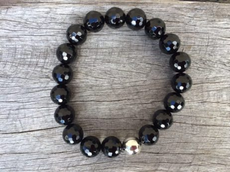 fabgemsworld gemstone bead matte product black bracelet com stone or from onyx beads polished dhgate elastic