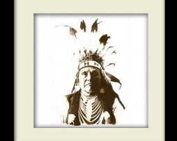 Chief Joseph Indian – Black Frame
