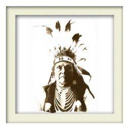 Chief Joseph Indian – White Frame