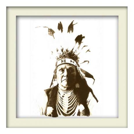 Chief Joseph Indian – White Frame